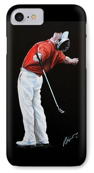 Lee Westwood Phone Case by Mark Robinson