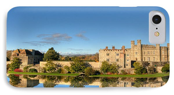 Leeds Castle And Moat Reflections IPhone Case