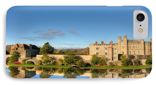 Leeds Castle And Moat Reflections Phone Case by Chris Thaxter