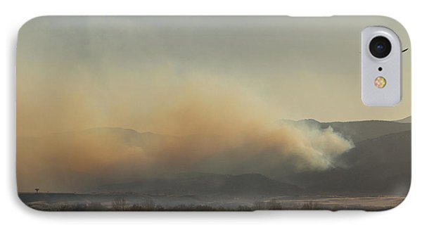 Lefthand Canyon Wildfire Across The Lake View IPhone Case by James BO  Insogna