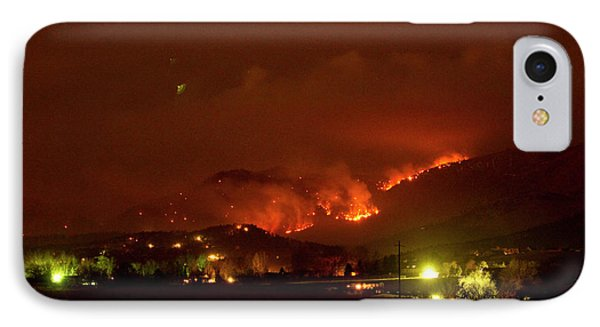 Lefthand Canyon Wildfire Boulder County Colorado 3-11-2011 IPhone Case