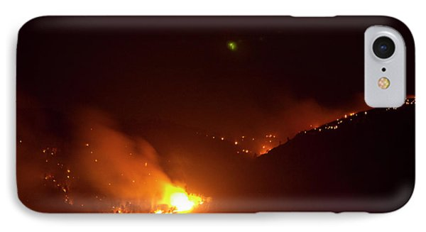 Lefthand Canyon Wildfire Flare Up Boulder County Colorado IPhone Case by James BO  Insogna