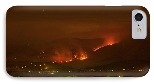 Lefthand Canyon Wildfire Night Time View IPhone Case by James BO  Insogna