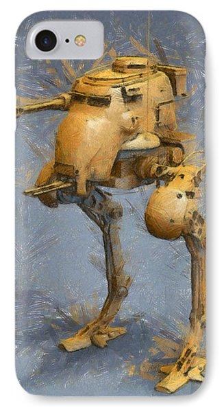 Legged Battlebot - Pa IPhone Case by Leonardo Digenio