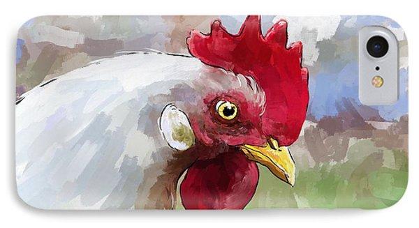 Leghorn Hen IPhone Case by Debra Baldwin