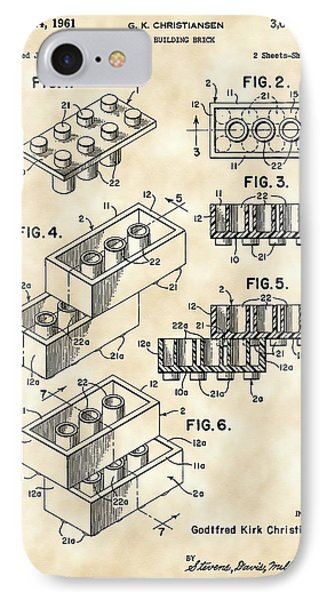 Lego Patent 1958 - Vintage IPhone Case by Stephen Younts