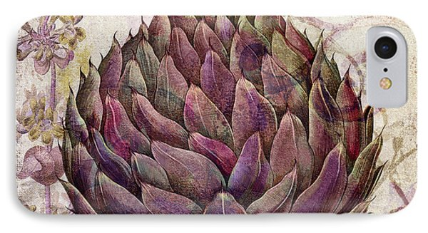 Legumes Francais Artichoke IPhone Case by Mindy Sommers