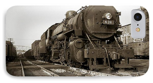 Lehigh Valley Steam Locomotive 431 At Wilkes Barre Pa. 1940s IPhone Case