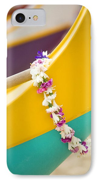 Lei Draped Over Outrigger Phone Case by Dana Edmunds - Printscapes