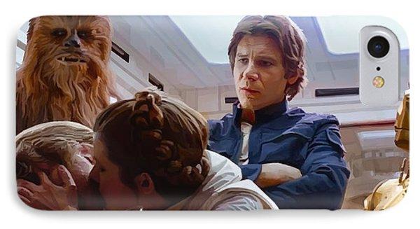 Leia Kisses Luke IPhone Case by Mitch Boyce