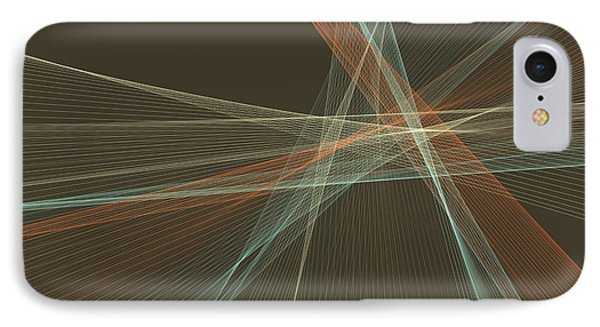 Lemans Computer Graphic Line Pattern IPhone Case by Frank Ramspott