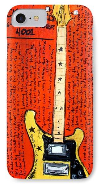 Lemmy's Rickenbacker 4001 Rickenbastard Phone Case by Karl Haglund