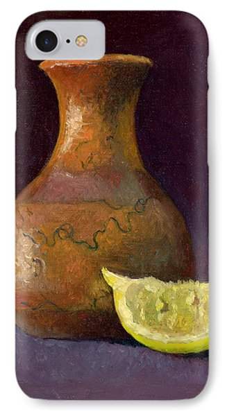 Lemon And Horsehair Vase A First Meeting IPhone Case by Catherine Twomey