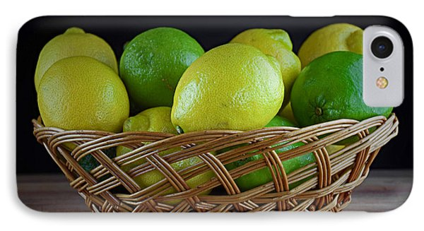 Lemon And Lime Basket IPhone Case by Ray Shrewsberry