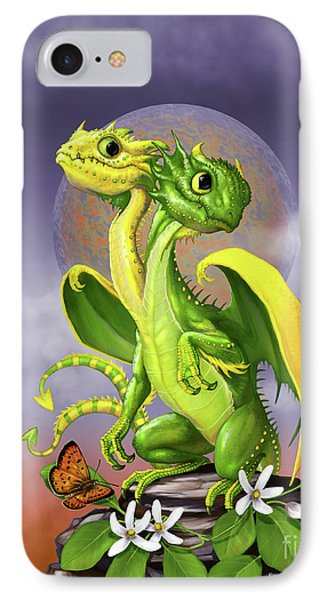 IPhone Case featuring the digital art Lemon Lime Dragon by Stanley Morrison