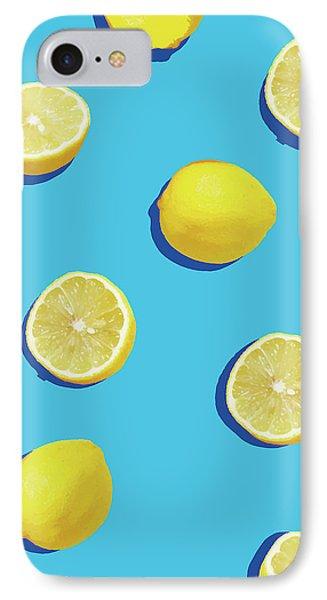 Lemon iPhone 7 Case - Lemon Pattern by Rafael Farias