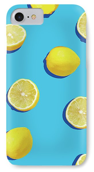 Lemon Pattern IPhone Case by Rafael Farias