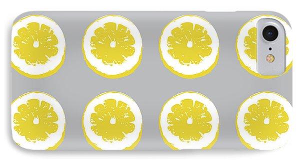 Lemon Slices On Grey- Art By Linda Woods IPhone Case by Linda Woods
