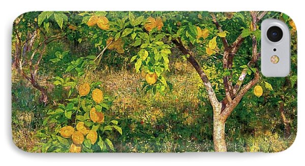 IPhone Case featuring the painting Lemon Tree by Henry Scott Tuke