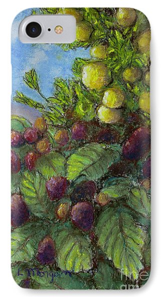Lemons And Berries IPhone Case by Laurie Morgan