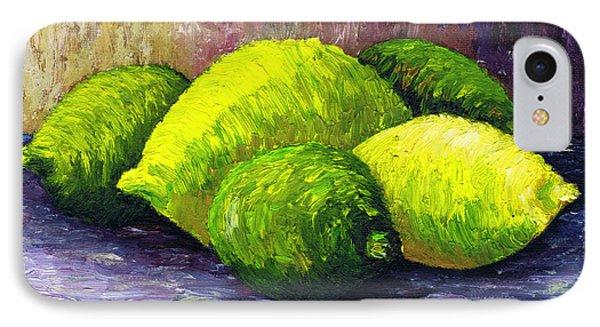 Lemons And Limes IPhone Case by Kamil Swiatek