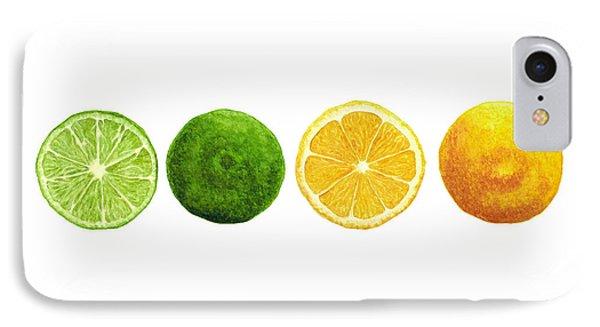 Lemons And Limes Phone Case by Kathleen Skinner