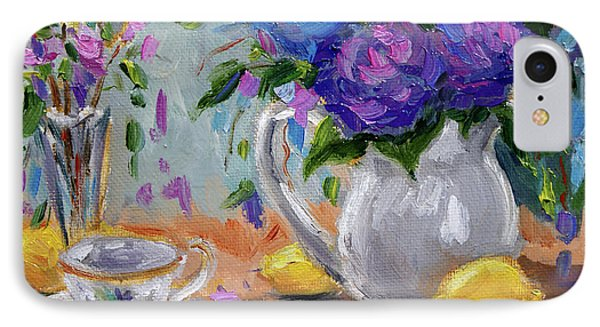 IPhone Case featuring the painting Lemons And Purple  by Jennifer Beaudet
