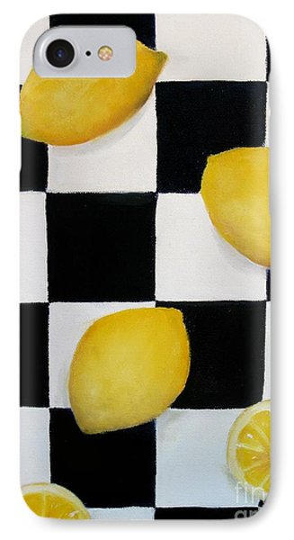 IPhone Case featuring the painting Lemons by Carol Sweetwood