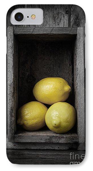 Lemons Still Life IPhone 7 Case by Edward Fielding