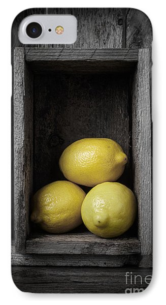 Lemons Still Life IPhone Case by Edward Fielding
