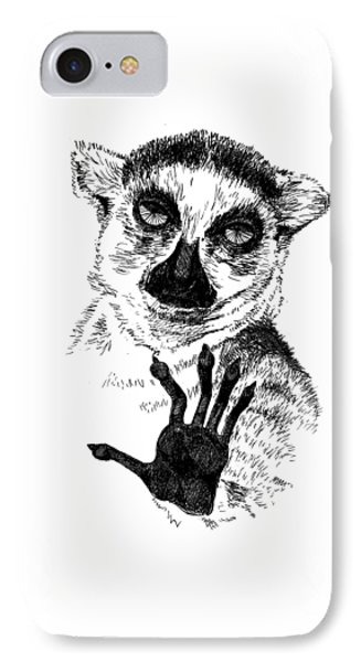 Lemur IPhone Case by Masha Batkova