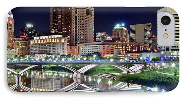Lengthy Columbus Nightscape IPhone Case by Frozen in Time Fine Art Photography