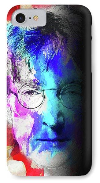 IPhone Case featuring the digital art Lennon by John Haldane