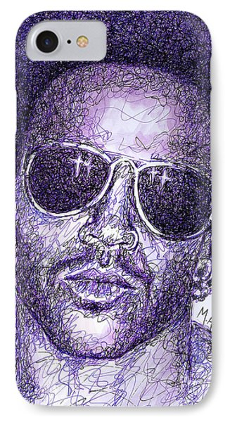 Lenny Kravitz Phone Case by Maria Arango