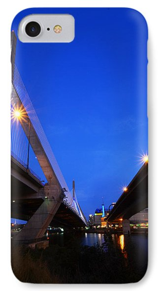 Lenny Zakim Bridge Td Banknorth Boston Garden Boston Ma IPhone Case by Toby McGuire