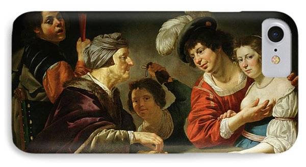 L'entremetteuse IPhone Case by Jan Van Bijlert