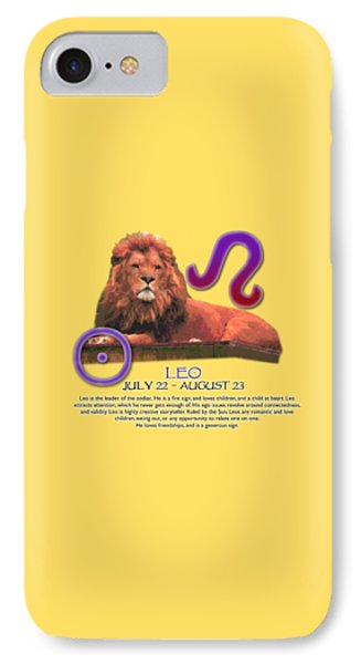 Leo Sun Sign IPhone Case by Shelley Overton