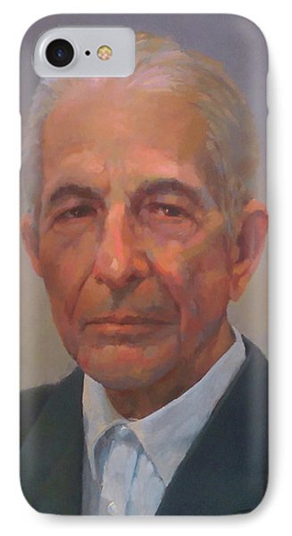 Leonard Cohen Phone Case by Mike Hanlon