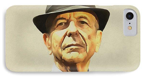 Leonard Cohen IPhone Case by Sergey Lukashin