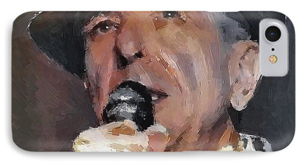 Leonard Cohen Tribute 2 IPhone Case by Yury Malkov