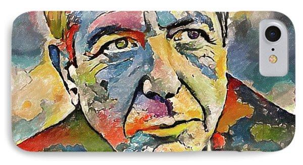 Leonard Cohen Tribute 3 IPhone Case