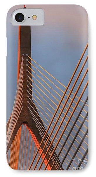 Leonard P. Zakim Bunker Hill Memorial Bridge, Boston IPhone Case by Henk Meijer Photography
