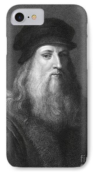 Leonardo Da Vinci (1452-1519) IPhone Case by Granger