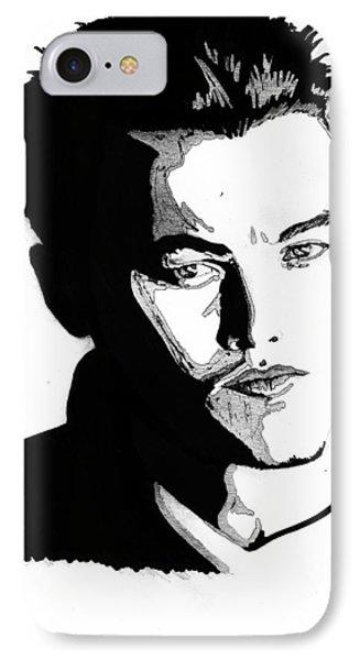 Leonardo Dicaprio Portrait Phone Case by Alban Dizdari