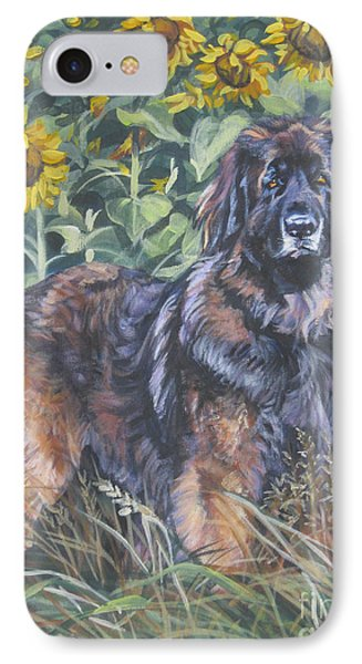 Leonberger In Sunflowers Phone Case by Lee Ann Shepard