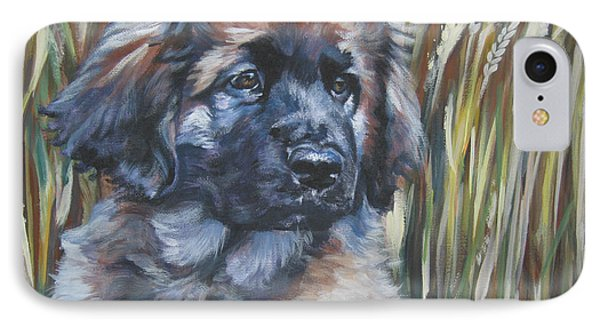 Leonberger Pup Phone Case by Lee Ann Shepard