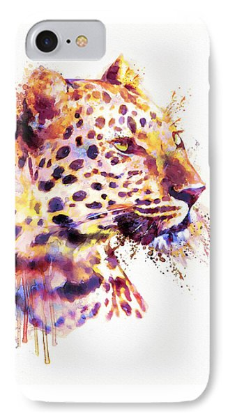 Leopard Head IPhone 7 Case by Marian Voicu