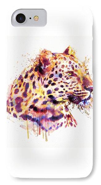 Leopard Head IPhone 7 Case by Marian Voicu