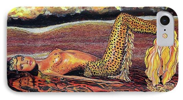Leopard Mermaid IPhone Case by Debbie Chamberlin