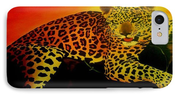 Leopard On A Tree IPhone Case